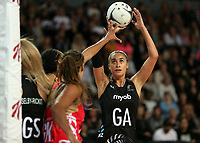 15.09.2018 Silver Ferns Maria Folau in action during Silver Ferns v England netball test match at Spark Arena in Auckland. Mandatory Photo Credit ©Michael Bradley.