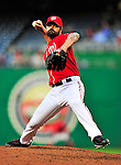 22 April 2010: Washington Nationals' pitcher Brian Bruney on the mound in relief against the Colorado Rockies at Nationals Park in Washington, DC. The Rockies shut out the Nationals 2-0 gaining a 2-2 series split. Mandatory Credit: Ed Wolfstein Photo