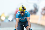 Mikel Landa (ESP) Movistar Team crosses the finish on Prat d'Albis in 3rd place at the end of Stage 15 of the 2019 Tour de France running 185km from Limoux to Foix Prat d'Albis, France. 20th July 2019.<br /> Picture: Colin Flockton | Cyclefile<br /> All photos usage must carry mandatory copyright credit (© Cyclefile | Colin Flockton)