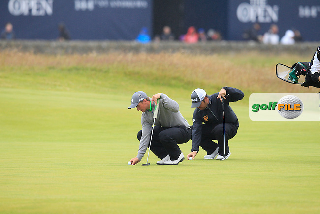 Paul DUNNE (IRL) (a) on the 1st during the final round on Monday of the 144th Open Championship, St Andrews Old Course, St Andrews, Fife, Scotland. 20/07/2015.<br /> Picture: Golffile | Fran Caffrey<br /> <br /> <br /> All photo usage must carry mandatory copyright credit (&copy; Golffile | Fran Caffrey)