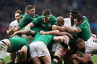Peter O'Mahony of Ireland and other forwards in action at a maul. Natwest 6 Nations match between England and Ireland on March 17, 2018 at Twickenham Stadium in London, England. Photo by: Patrick Khachfe / Onside Images