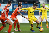 Fleetwood Town's Ched Evans competing with Luton Town's Glen Rea<br /> <br /> Photographer Andrew Kearns/CameraSport<br /> <br /> The EFL Sky Bet League One - Luton Town v Fleetwood Town - Saturday 8th December 2018 - Kenilworth Road - Luton<br /> <br /> World Copyright &copy; 2018 CameraSport. All rights reserved. 43 Linden Ave. Countesthorpe. Leicester. England. LE8 5PG - Tel: +44 (0) 116 277 4147 - admin@camerasport.com - www.camerasport.com