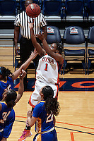 SAN ANTONIO, TX - MARCH 7, 2013: The San Jose State University Spartans versus the University of Texas at San Antonio Roadrunners Women's Basketball at the UTSA Convocation Center. (Photo by Jeff Huehn)
