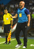 BARRANQUILLA- COLOMBIA -18-03-2017: Hernan Lisi, técnico de Once Caldas, durante partido de la fecha 10 entre Atletico Junior y Once Caldas, por la Liga Aguila I-2017, jugado en el estadio Metropolitano Roberto Melendez de la ciudad de Barranquilla. / Hernan Lisi, coach of Once Caldas, during a match of the date 10, between Atletico Junior and Once Caldas, for the Liga Aguila I-2017 at the Metropolitano Roberto Melendez Stadium in Barranquilla city, Photo: VizzorImage / Alfonso Cervantes / Cont.