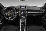 Stock photo of straight dashboard view of 2019 Porsche 911 Turbo-Coupe 2 Door Coupe Dashboard