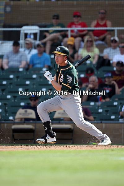 Danny Oh - Oakland Athletics 2016 spring training (Bill Mitchell)