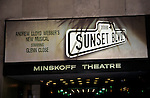 Glenn Close in Sunset Boulevard Theatre Marque in New York City at the Minskoff Theatre in 1995.