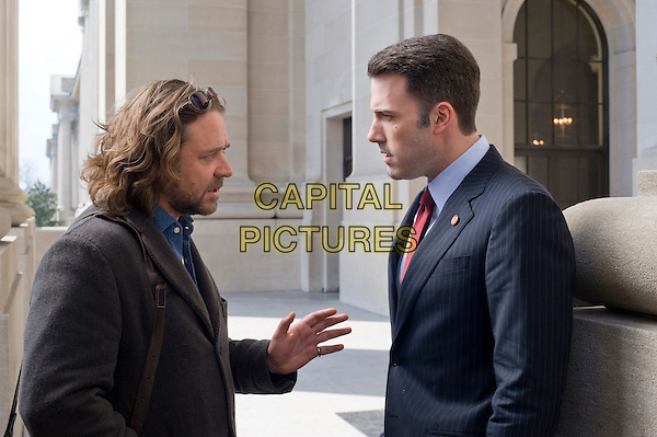 RUSSELL CROWE & BEN AFFLECK.in State of Play.*Filmstill - Editorial Use Only*.CAP/FB.Supplied by Capital Pictures.