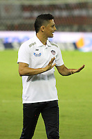 BARRANQUILLA  -COLOMBIA, 10-09-2016. Giovanni Hernández  director técnico del Junior l contra  Fortaleza  durante encuentro  por la fecha 11 de la Liga Aguila II 2016 disputado en el estadio Metropolitano Roberto Meléndez ./ Giovanni Hernandez coach of Junior agaisnt  of Fortaleza  during match for the date 11 of the Aguila League II 2016 played at Metroplitano Roberto Melendez stadium . Photo:VizzorImage / Alfonso Cervantes  / Contribuidor