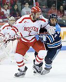 Eric Gryba (BU - 2), Wes Clark (Maine - 24) - The Boston University Terriers defeated the University of Maine Black Bears 1-0 (OT) on Saturday, February 16, 2008 at Agganis Arena in Boston, Massachusetts.
