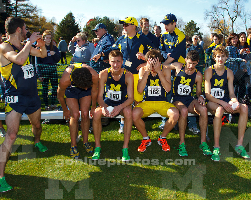 The University of  Michigan men's cross country team finished third out of 31 teams at the 2011 NCAA Great Lakes Regional in Toledo, Ohio, on November 12, 2011.