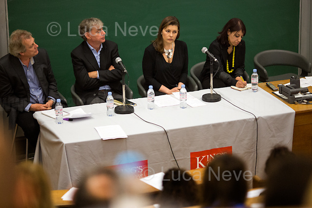 London, 03/05/2017. Today, King's College London Italian Society, in partnership with CinemaItaliaUk, presented the screening of the documentary &quot;A Very Sicilian Justice&quot;. As described in its website the &quot;film narrated by Helen Mirren documenting the professional and personal trials of Italy's most threatened man Judge Nino Di Matteo as he prosecutes the Italian State for conspiring with the Mafia in acts of murder and terror&quot;. The award winning film (Manchester Film Festival 2017) - part of the &quot;Special Series&quot; of Al-Jazeera UK - was made by Director Paul Sapin &amp; Producer Toby Follett. The screening was (supposed to be) followed by a Q&amp;A with Dr Di Matteo himself, Anna Sergi (Expert in organised crime and Lecturer in Criminology at the University of Essex), Simon Taylor (Director and Co-founder of the NGO &ldquo;Global Witness&rdquo;) and Farid Barsoum (Commissioning Editor for Al-Jazeera). Chair of the event was Barbara Serra (Journalist and presenter for Al-Jazeera).<br /> This story is called &quot;The Empty Seat&quot; because at the last minute Dr Di Matteo was not allowed to attend the event due to security issues not met by the British Authorities. From Dr Di Matteo opening speech (You can find the full version in English and Italian after the photos): &lt;&lt;[&hellip;] It would have been a great honour to have been able to be here with you, physically, at this renowned University to reflect on the issue of Mafia-related organised. I am deeply upset that I cannot be with you this evening but the British Authorities have refused me any kind of armed protection. For this reason, as there would not even have been the minimum conditions to assure my safety, I decided, with great bitterness, to renounce the trip to London [...]&gt;&gt;. Continues in the PDF at the beginning of this story.<br /> <br /> For more info &amp; a video of the event click here: http://bit.ly/2qJXCPL &amp; http://bit.ly/2qwyUpA<br /> To watch the Docu