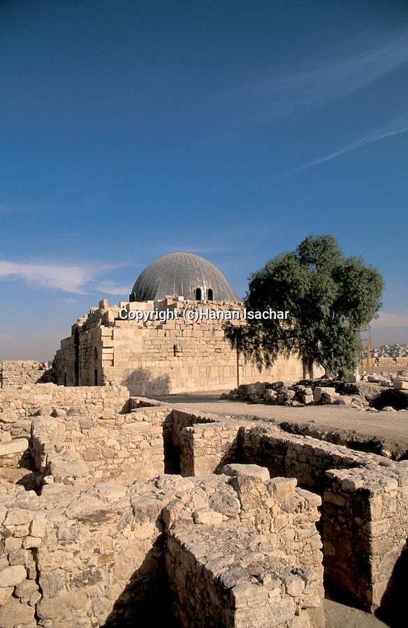 Jordan, Amman. Ruins on Citadel Hill&#xA;<br />