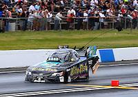 May 31, 2014; Englishtown, NJ, USA; NHRA funny car driver Tony Pedregon during qualifying for the Summernationals at Raceway Park. Mandatory Credit: Mark J. Rebilas-