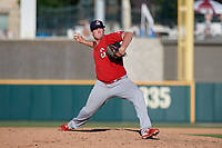 Springfield Cardinals pitcher Seth Elledge (32) during a Texas League game against the Frisco RoughRiders on May 5, 2019 at Dr Pepper Ballpark in Frisco, Texas.  (Mike Augustin/Four Seam Images)