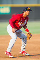 Johnson City Cardinals third baseman Chris Rivera (11) on defense against the Burlington Royals at Burlington Athletic Park on July 14, 2014 in Burlington, North Carolina.  The Cardinals defeated the Royals 9-4.  (Brian Westerholt/Four Seam Images)