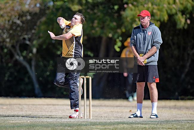 NELSON, NEW ZEALAND March 2: Div1 Cricket Stoke Nayland CC v Wakatu CC, Marsden Rec, Nelson, March 2 2019, Nelson, New Zealand (Photos by Barry Whitnall/Shuttersport Limited)
