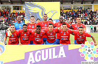 IPIALES-COLOMBIA, 21-09-2019: Jugadores de Deportivo Pasto, posan para una foto, antes de durante partido de la fecha 12 entre Deportivo Pasto y Atlético Nacional por la Liga Águila II 2019  jugado en el estadio Municipal de Ipiales de la Ciudad de Ipiales. / Players of Deportivo Pasto, pose for a photo, prior a match of the 12th date between Deportivo Pasto and Atletico Nacional for the Aguila Leguaje II 2019 played at the Municipal de Ipiales stadium in Ipiales city. Photo: VizzorImage / Leonardo Castro / Cont.