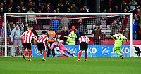 York City's Scott Fenwick scores from the penalty spot<br /> <br /> Photographer Andrew Vaughan/CameraSport<br /> <br /> Buildbase FA Trophy Semi Final Second Leg - Lincoln City v York City - Saturday 18th March 2017 - Sincil Bank - Lincoln<br />  <br /> World Copyright &copy; 2017 CameraSport. All rights reserved. 43 Linden Ave. Countesthorpe. Leicester. England. LE8 5PG - Tel: +44 (0) 116 277 4147 - admin@camerasport.com - www.camerasport.com
