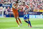 Atletico de Madrid's Saúl Ñígez and SD Eibar's Gonzalo Escalante during Liga Liga match between Atletico de Madrid and SD Eibar at Vicente Calderon Stadium in Madrid, May 06, 2017. Spain.<br /> (ALTERPHOTOS/BorjaB.Hojas)