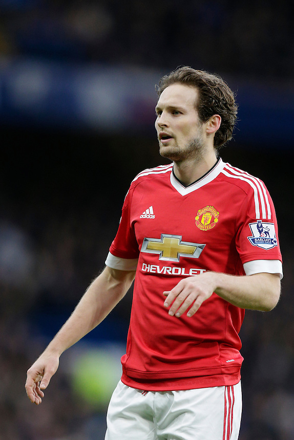 Manchester United's Daley Blind during today's match<br /> <br /> Photographer Craig Mercer/CameraSport<br /> <br /> Football - Barclays Premiership - Chelsea v Manchester United - Sunday 7th February 2016 - Stamford Bridge - London<br /> <br /> &copy; CameraSport - 43 Linden Ave. Countesthorpe. Leicester. England. LE8 5PG - Tel: +44 (0) 116 277 4147 - admin@camerasport.com - www.camerasport.com