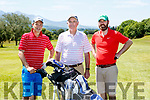 John O'Sullivan, Bernard Costello Snr and Bernard Costello Jnr enjoying the sun soaked Tralee Golf club classic in Killarney Golf club on Sunday