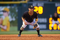 Bradenton Marauders third baseman Connor Joe (6) during a game against the Lakeland Flying Tigers on April 16, 2016 at McKechnie Field in Bradenton, Florida.  Lakeland defeated Bradenton 7-4.  (Mike Janes/Four Seam Images)