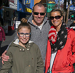 Alan, Terri and Grace Salter from Sparks during the Veterans Day Parade in downtown Reno on Sunday, November 11, 2018. 13-year-old Grace is attending the parade in support of her step-brother marching with the Spanish Springs ROTC.