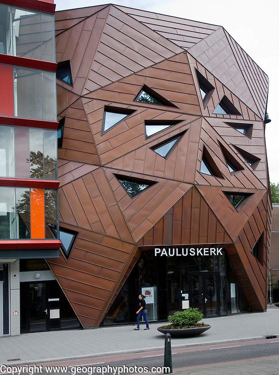 Modern architecture Nieuwe Pauluskerk, Rotterdam, Netherlands, opened June 2013 designed by British architect Will Alsop