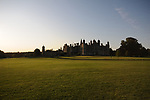 Stamford, Lincolnshire, United Kingdom, 5th September 2019, An early morning view of the 2019 Land Rover Burghley Horse Trials, Credit: Jonathan Clarke/JPC Images