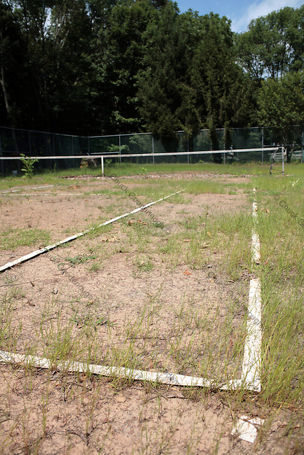 Stock Photo of an Old neglected tennis court