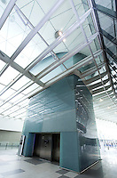 Kone elevator in Culture Center at Shanghai Expo 2010, in Shanghai, China, on June 3, 2010. Photo by Lucas Schifres/Pictobank