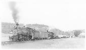 RGS #20 and leased D&amp;RGW #462 hauling lumber near Glencoe.<br /> RGS  Glencoe, CO  Taken by Maxwell, John W. - 7/14/1946