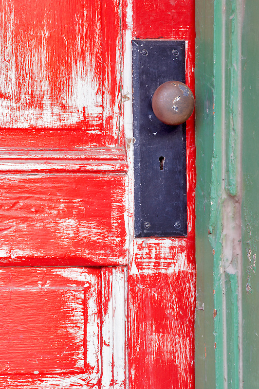 Old red door. Tucson. Arizona