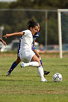 SAN ANTONIO , TX - SEPTEMBER 3, 2009: The Our Lady of the Lake University Saints vs. The St. Mary's University Rattlers Women's Soccer at the St. Mary's University Soccer Field. (Photo by Jeff Huehn)