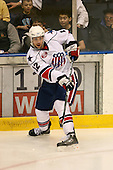 March 13, 2009:  Defeneseman Peter Aston (12) of the Rochester Amerks, AHL affiliate of the Florida Panthers, in the first period during a game at the Blue Cross Arena in Rochester, NY.  Toronto defeated Rochester 4-2.  Photo copyright Mike Janes Photography 2009