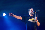 © Joel Goodman - 07973 332324 . 19/07/2013 . Suffolk , UK . John Grant performs on the BBC6 Music Stage . The Latitude music and culture festival in Henham Park , Southwold . Photo credit : Joel Goodman