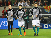 Julian Brandt (Deutschland Germany), Leon Goretzka (Deutschland, Germany), Niklas Süle (Deutschland Germany) - 23.03.2018: Deutschland vs. Spanien, Esprit Arena Düsseldorf