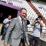 Juan Ignacio Martinez during his official presentation as Real Valladolid´s new coach in Jose Zorrilla football stadium, in Valladolid, Spain. June 18, 2013. (Victor J Blanco/Alterphotos)