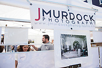 Cotton District Arts Festival - Super Bulldog Weekend. Artist booth - Jeremy Murdock Photography.<br />  (photo by Megan Bean / &copy; Mississippi State University)