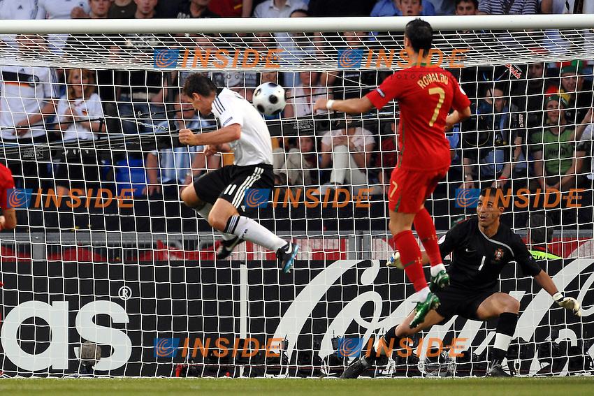 Miroslav Klose scores goal<br /> Gol di Klose<br /> Basel/Basilea 19/6/2008 Stadium &quot;St. Jakob Park&quot; Euro2008 Championships - Quarter Final<br /> Portogallo Germania - Portugal Germany (2-3) <br /> Foto Andrea Staccioli Insidefoto