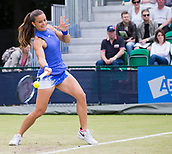 June 15th 2017, Nottingham, England;WTA Aegon Nottingham Open Tennis Tournament day 6;  Forehand from Maria Sakkari of Greece