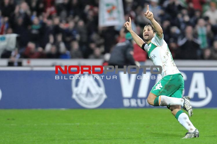 FBL 2008/2009 24. Spieltag Rueckrunde<br />  Werder Bremen - VFB Stuttgart<br /> <br /> 1:0 Diego ( Bremen BRA #10 ) Jubel<br /> <br /> <br /> ) Foto &copy; nph (nordphoto )