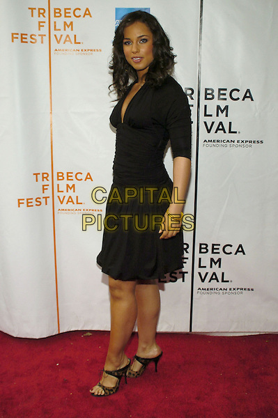 "ALICIA KEYS.6th Annual Tribeca Film Festival - ""We Are Together (Thina Simunye)"", An HBO Documentary Film, New York City, New York, USA..April 26th, 2007.full length black dress .CAP/ADM/BL.©Bill Lyons/AdMedia/Capital Pictures"