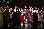 J. Elaine Marcos, Clarke Thorell, Anthony Warlow, Lilla Crawford, Katie Finneran, Merwin Foard, Brynn O'Malley & Company during the Broadway Opening Night Performance Curtain Call for 'Annie' at the Palace Theatre in New York City on 11/08/2012