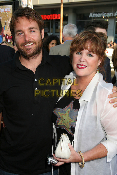 """WILL FORTE & PATTI (MOTHER).Los Angeles Premiere of """"Beerfest"""", Hollywood, California, USA..August 21st, 2006.Ref: ADM/BP.half length black top white sheer son family beard facial hair.www.capitalpictures.com.sales@capitalpictures.com.©Byron Purvis/AdMedia/Capital Pictures."""