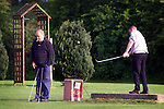 Barry Hill from MacBride Pitch and Putt Club and who was last years All Ireland champion teeing off at the National Pitch and Putt Championships, regional qualifer at MacBride club..Picture: Paul Mohan/Newsfile