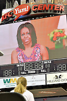 College Signing Day 2015 at the KFC Yum! Center.<br /> First Lady Michelle Obama gives a video message.