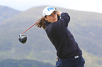 Alessandra Fanali (ITA) on the 2nd tee during Round 1 of the Women's Amateur Championship at Royal County Down Golf Club in Newcastle Co. Down on Tuesday 11th June 2019.<br /> Picture:  Thos Caffrey / www.golffile.ie<br /> <br /> All photos usage must carry mandatory copyright credit (© Golffile | Thos Caffrey)