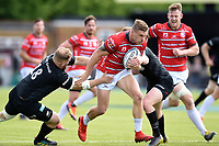Jason Woodward of Gloucester Rugby takes on the Saracens defence. Gallagher Premiership Semi Final, between Saracens and Gloucester Rugby on May 25, 2019 at Allianz Park in London, England. Photo by: Patrick Khachfe / JMP